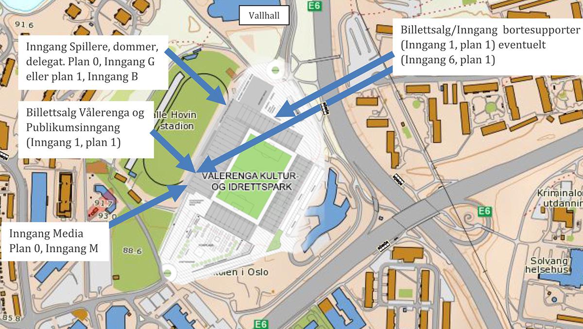ulvensplitten kart Intility arena : Ankomst og parkering   Vålerenga Damefotball ulvensplitten kart