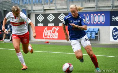 Målscorer mot Sandviken, Marie Dølvik Markussen. Foto: Morten M. Larød.