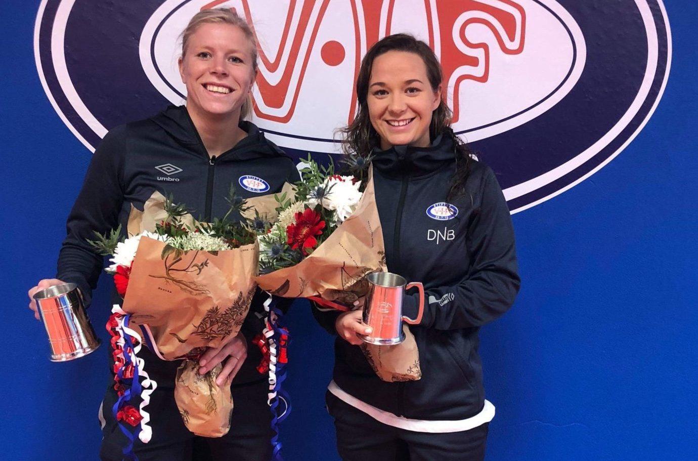 Maren Hauge og Ingrid Søndenå i 100