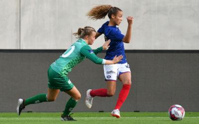 Celin Bizet Ildhusøy,, her fra kvartfinalen mot Klepp i fjorårets NM, en kamp vi tapte 3-1. Foro: Morten Mitchell Larød/SPORTFOTO